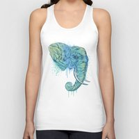 god Tank Tops featuring Elephant Portrait by Rachel Caldwell