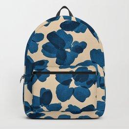 Deep Blue Flowers Backpack