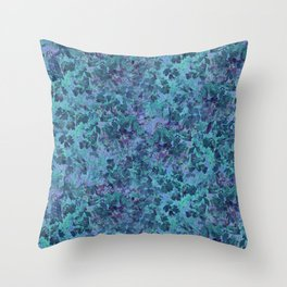 Water Leaves Throw Pillow