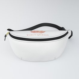 Yoga Queen  - Living Coral Watercolor Fanny Pack