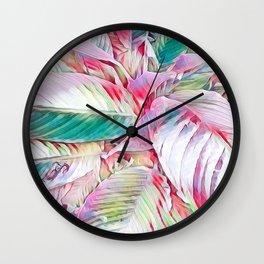Pastel Botanicals Wall Clock