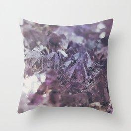 Amethyst geode Throw Pillow