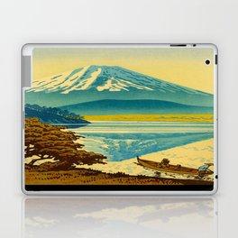 Japanese Woodblock Print Vintage Asian Art Colorful woodblock prints Asano Takeji Lake Shojin Laptop & iPad Skin