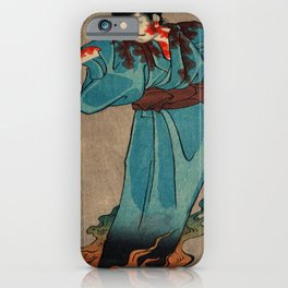 Flaming Spirit Traditional Japanese Character iPhone Case