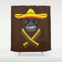 Gibbon Desperado Shower Curtain