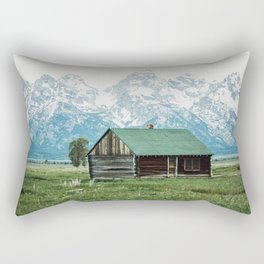 Teton Cabin Rectangular Pillow