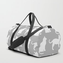 Pretty Pussy Cats On Grey Duffle Bag