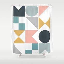 Modern Geometric 08 Shower Curtain