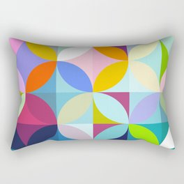 mid century geometry Rectangular Pillow