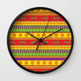 gecko mexican pattern Wall Clock