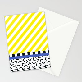 Memphis pattern 85 Stationery Cards