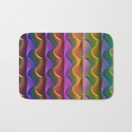 Lines of Swirls Bath Mat