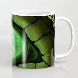 Green Dragon Eye Fantasy Painting Colorful Digital Illustration Coffee Mug
