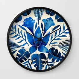 Tropical Symmetry – Navy Wall Clock