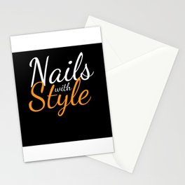 Nails With Style Fingernail Manicure Stationery Cards