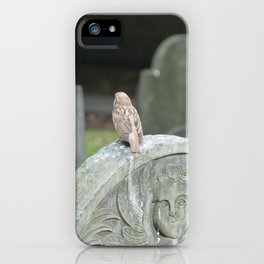 Sparrow in King's Chapel Burying Ground Boston iPhone Case