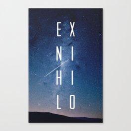 Ex Nihilo Canvas Print