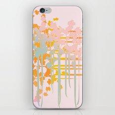 rainbow floral iPhone Skin