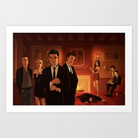 glee Art Prints featuring Glee Clue AU by rocketssurgery