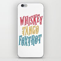 whiskey iPhone & iPod Skins featuring Whiskey Tango by northside