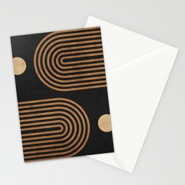 Arches - Minimal Geometric Abstract 2 Stationery Cards