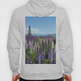 Colorful lupine towers Hoody