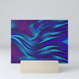 Flying Bird-blue/purple Mini Art Print