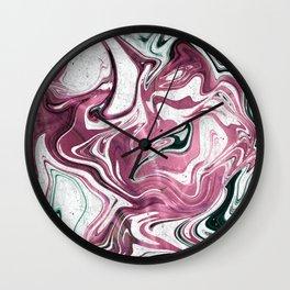 Marble Glitch 4 Wall Clock