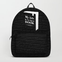 My Life Is An Open Book Backpack