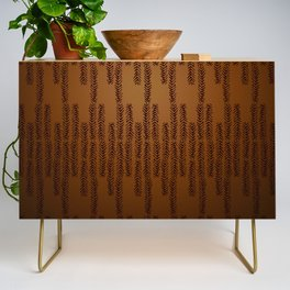Eye of the Magpie tribal style pattern - bronze Credenza
