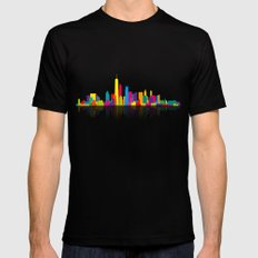New WTC Skyline Mens Fitted Tee SMALL Black