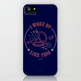 I Woke Up Like This – Pink & Navy Palette iPhone Case