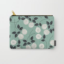 Pattern with white roses Carry-All Pouch