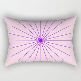 SpikeyBurst - Pastel Pink Background with Purple Rectangular Pillow