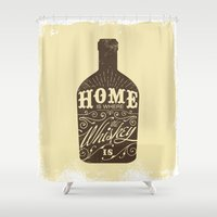 whiskey Shower Curtains featuring Whiskey by irosebot