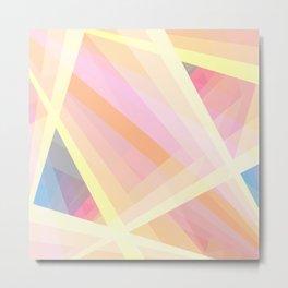 Abstract Geometric Shape Metal Print