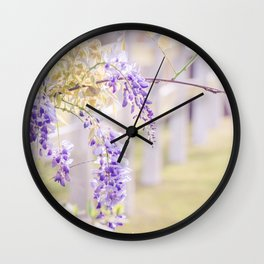 Wisteria 2 Wall Clock