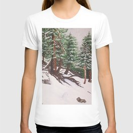 Snowing at Mount Baldy T-shirt