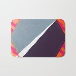 London - color hexagon Bath Mat