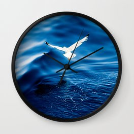 Blue Velvet Wall Clock