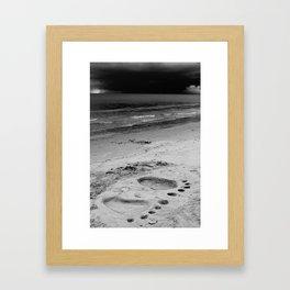 Barefoot Beach Framed Art Print