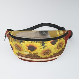 Frame Design yellow Sheep Fanny Pack