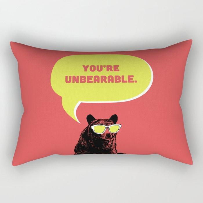 Unbearable Rectangular Pillow