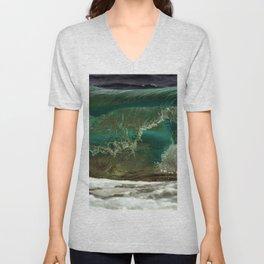 Waves, Island of Jamestown, Narragansett Bay, Rhode Island Unisex V-Neck
