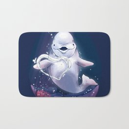 Beluga Whale Blow Kiss Bath Mat