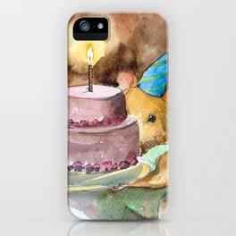 Ginger Celebrates with Cake iPhone Case