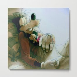 Goofy and Son Metal Print