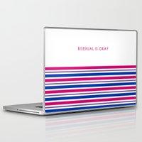 bisexual Laptop & iPad Skins featuring Bisexual Is Okay by jess