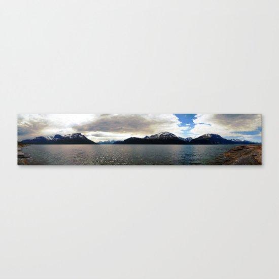 lyngen fjord panorama, norway. Canvas Print