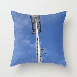Emirates Cable Car And British Airways Throw Pillow
